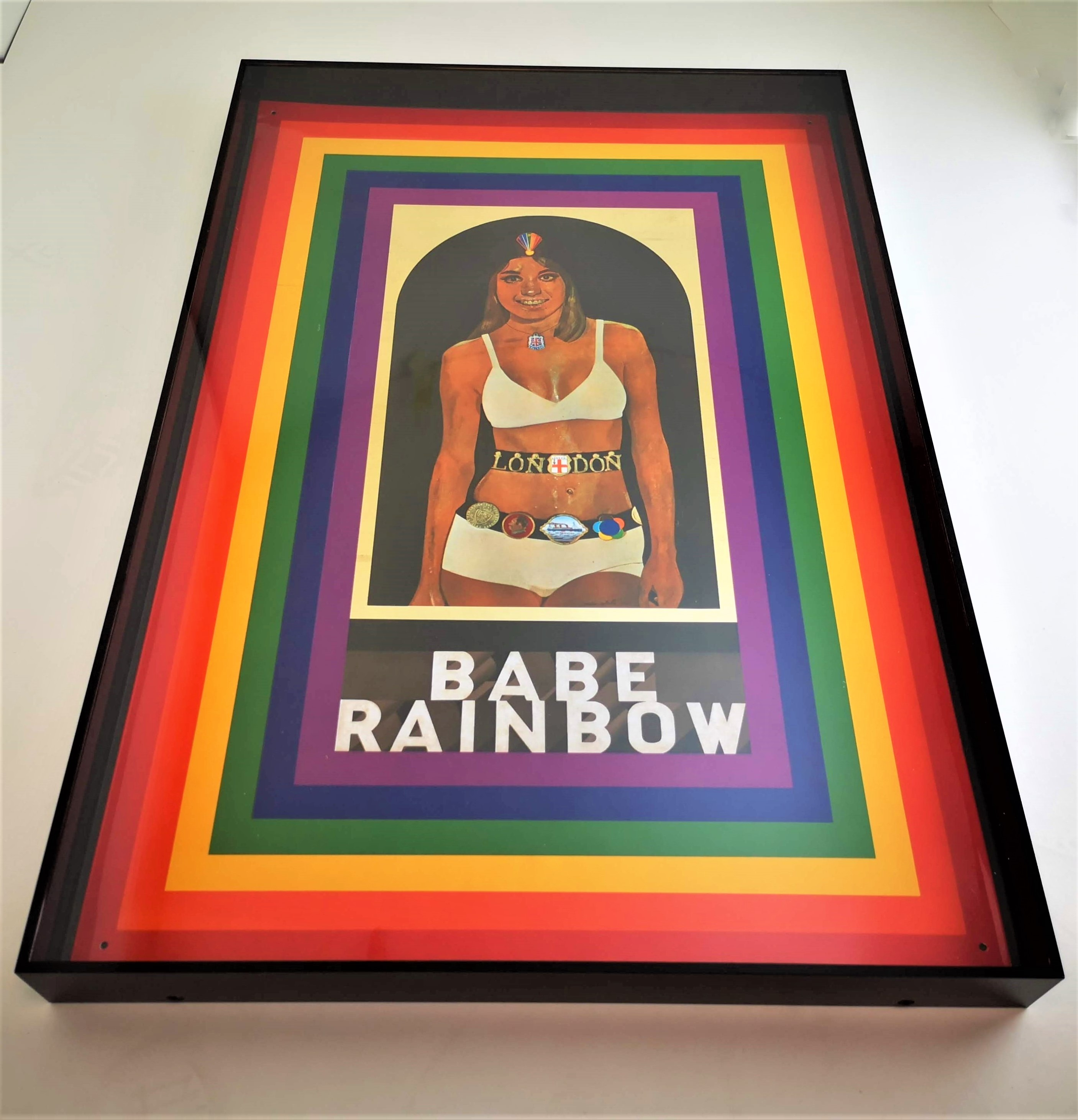 Peter Blake's Babe Rainbow in Black Perspex thumbnail